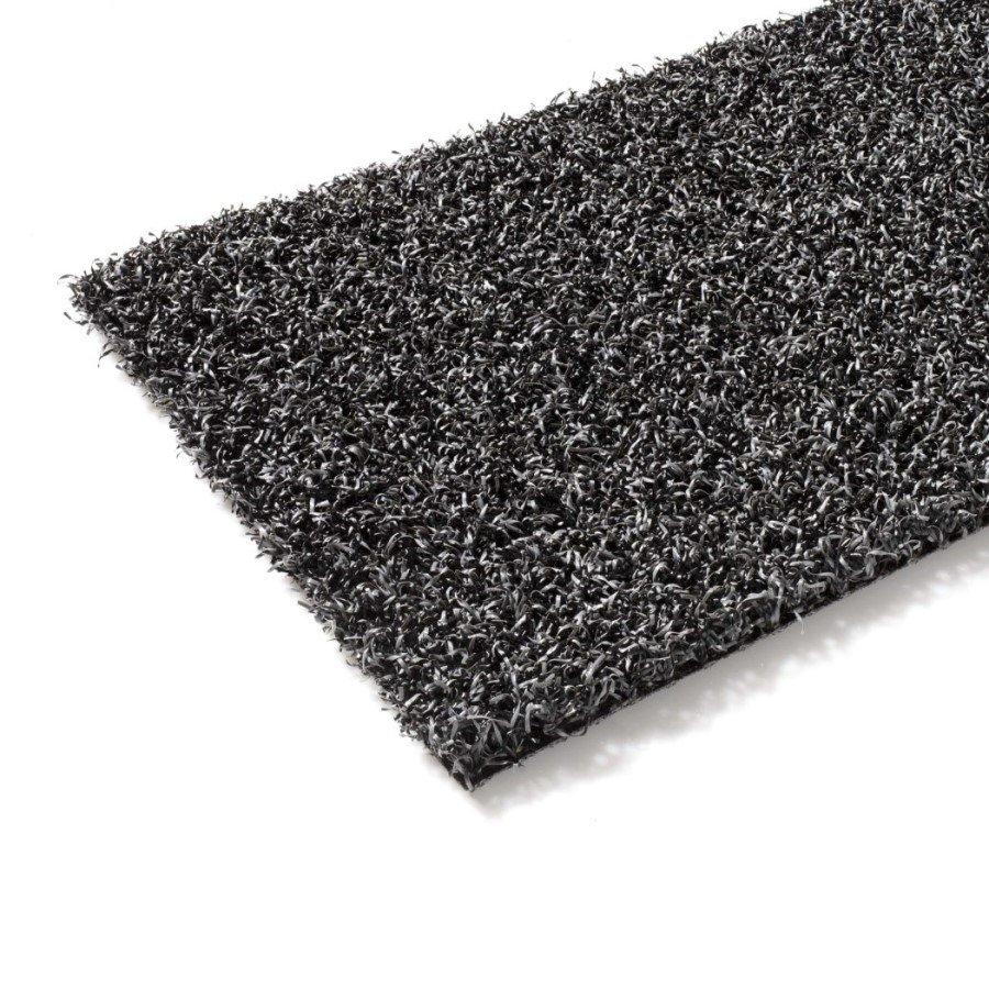 Antracitový umělý trávník (metráž) FLOMA Colourfull Grass Anthracite - délka 1 cm a výška 1,4 cm
