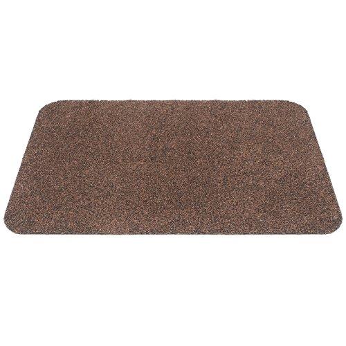 Hnědá bavlněná textilní pratelná vstupní vnitřní čistící rohož Natuflex - délka 50 cm, šířka 80 cm a výška 0,8 cm