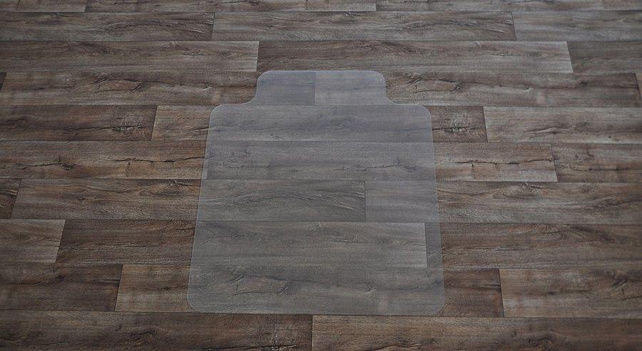 Čirá podložka pod židli na hladké povrchy - délka 120 cm, šířka 100 cm a výška 0,15 cm