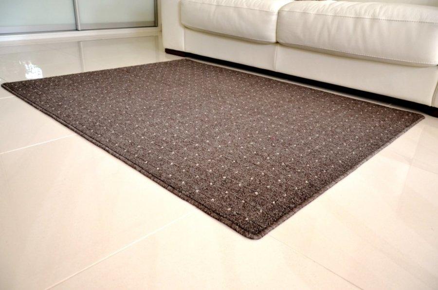 Hnědý kusový moderní koberec Udinese - délka 110 cm a šířka 60 cm