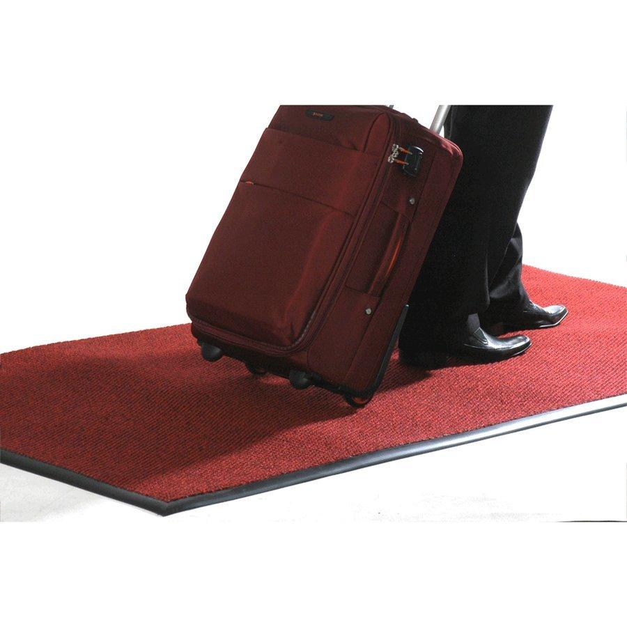 Červená textilní vstupní vnitřní čistící zátěžová rohož Perla - délka 200 cm, šířka 100 cm a výška 1,2 cm