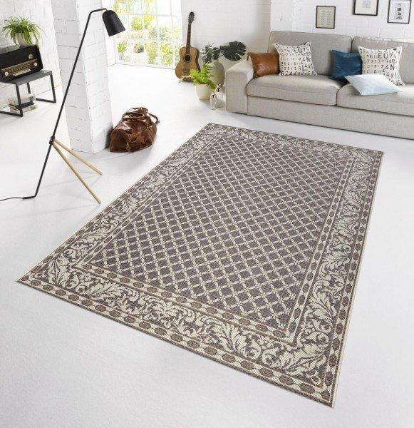 Šedý moderní kusový koberec Botany - délka 165 cm a šířka 115 cm