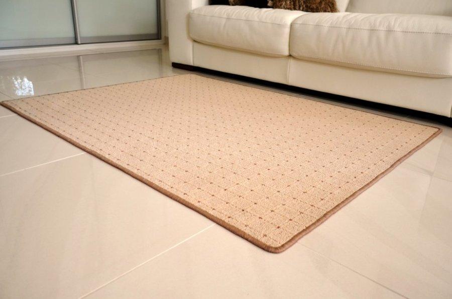 Béžový kusový koberec Udinese - délka 110 cm a šířka 60 cm
