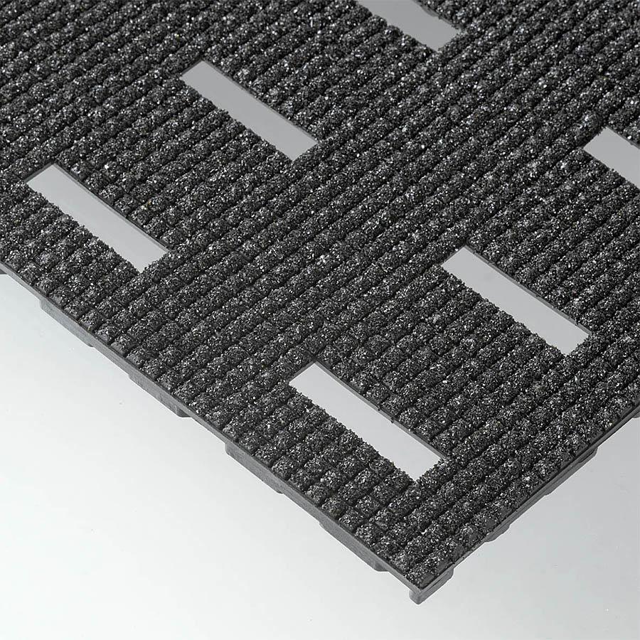 Černá olejivzdorná protiskluzová protiúnavová rohož Grip Step Cushion Dek - výška 1,1 cm