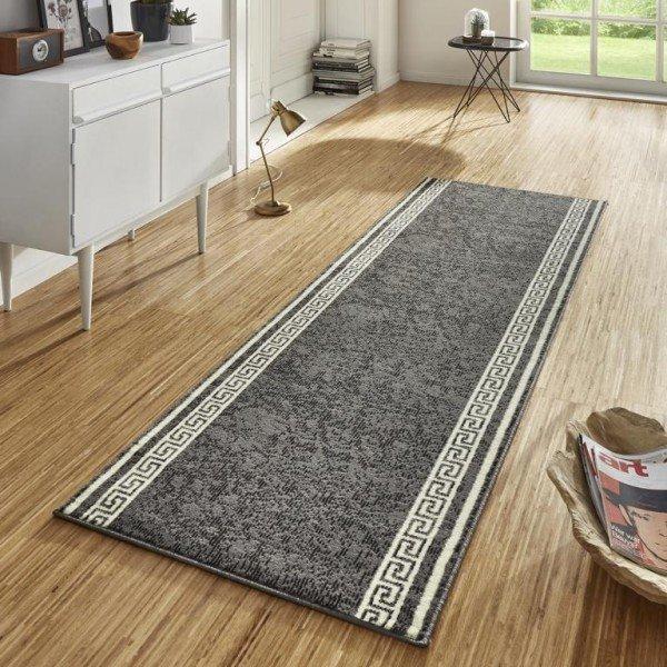 Šedý moderní kusový koberec Basic - délka 400 cm a šířka 80 cm