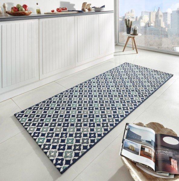 Modrý moderní kusový koberec Soho - délka 200 cm a šířka 80 cm