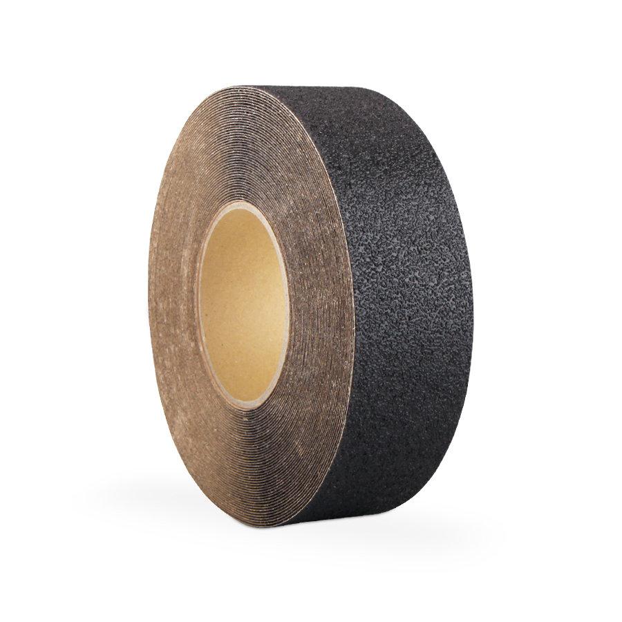 Černá korundová protiskluzová páska 01 - délka 18,3 m a šířka 5 cm