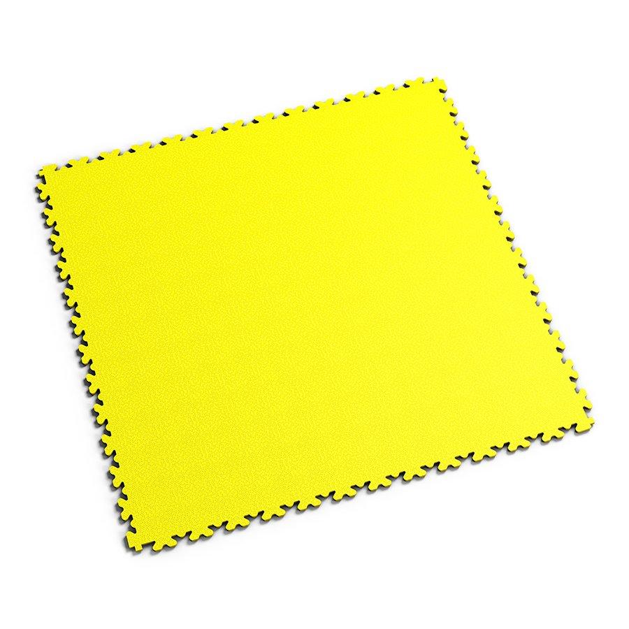 Žlutá PVC vinylová zátěžová dlažba Fortelock XL - délka 65,3 cm, šířka 65,3 cm a výška 0,4 cm