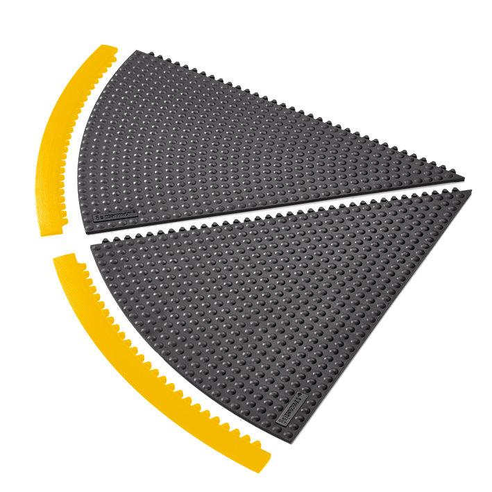 Černá gumová rohož (okraj) Skywalker HD i-Curve, Nitrile FR - výška 1,3 cm