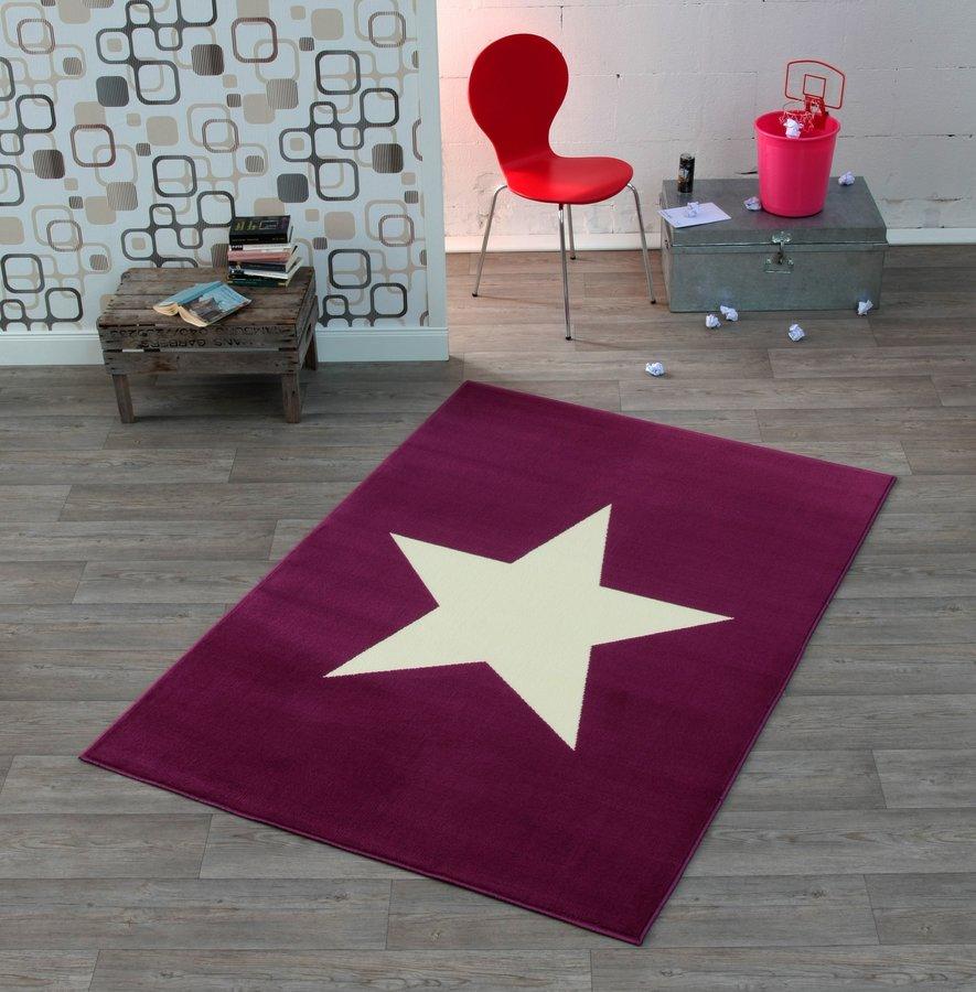 Fialový moderní kusový koberec City Mix - délka 200 cm a šířka 140 cm