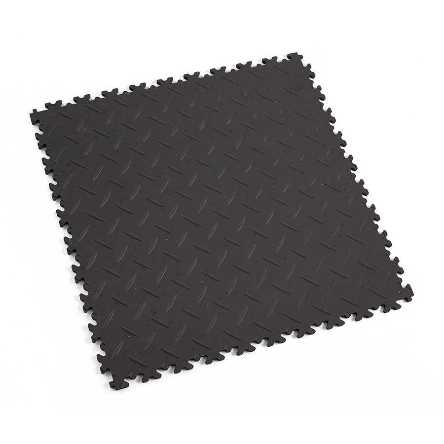 Šedá vinylová plastová zátěžová dlaždice Fortelock Eco 2010 (diamant) - délka 51 cm, šířka 51 cm a výška 0,7 cm