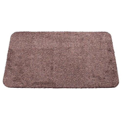 Hnědá bavlněná textilní pratelná vstupní vnitřní čistící rohož - délka 60 cm, šířka 100 cm a výška 0,8 cm