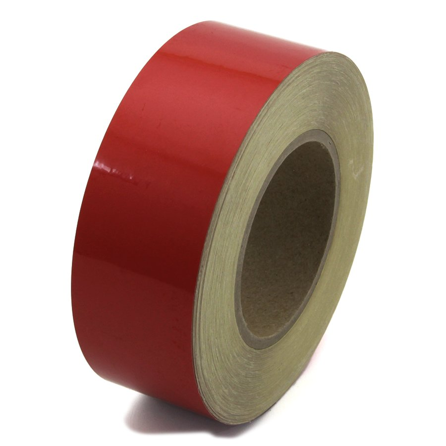 Červená reflexní výstražná páska - délka 45 m a šířka 5 cm