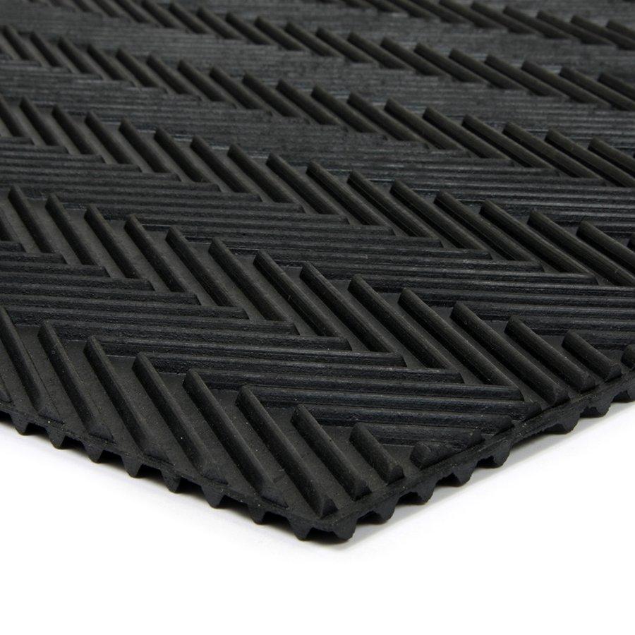 Gumová čistící oboustranná venkovní vstupní rohož Double Side, FLOMAT - délka 45 cm, šířka 75 cm a výška 1 cm