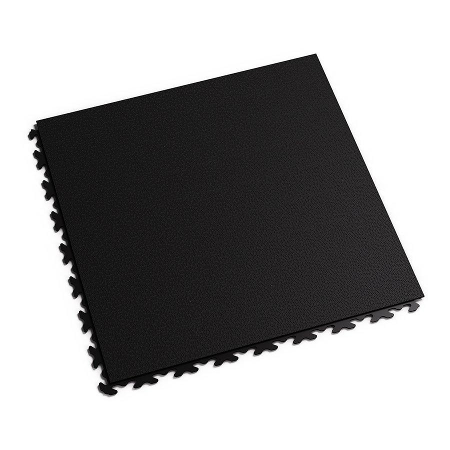 Černá plastová vinylová zátěžová dlaždice Fortelock Invisible Eco 2030 (hadí kůže) - délka 46,8 cm, šířka 46,8 cm a výška 0,67 cm
