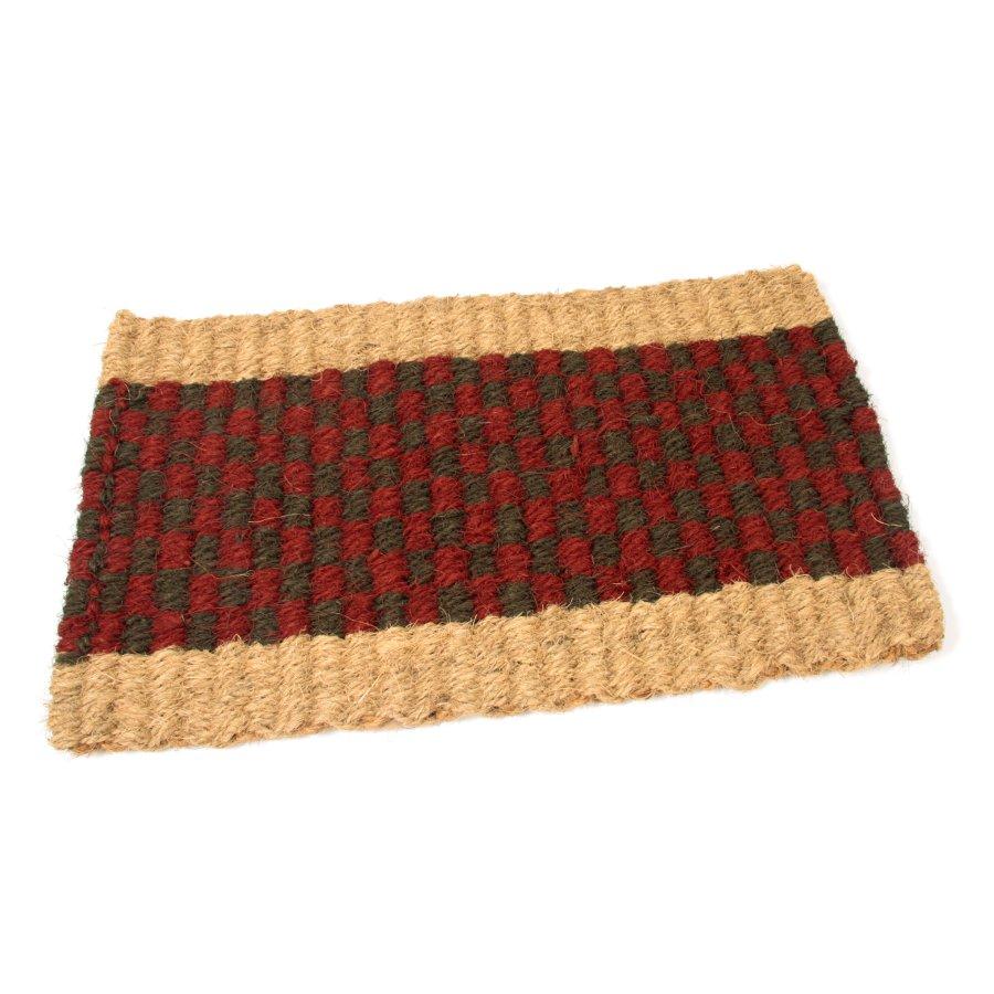 Kokosová vstupní venkovní čistící rohož Colored Stripe, FLOMA - délka 35 cm, šířka 60 cm a výška 2,5 cm