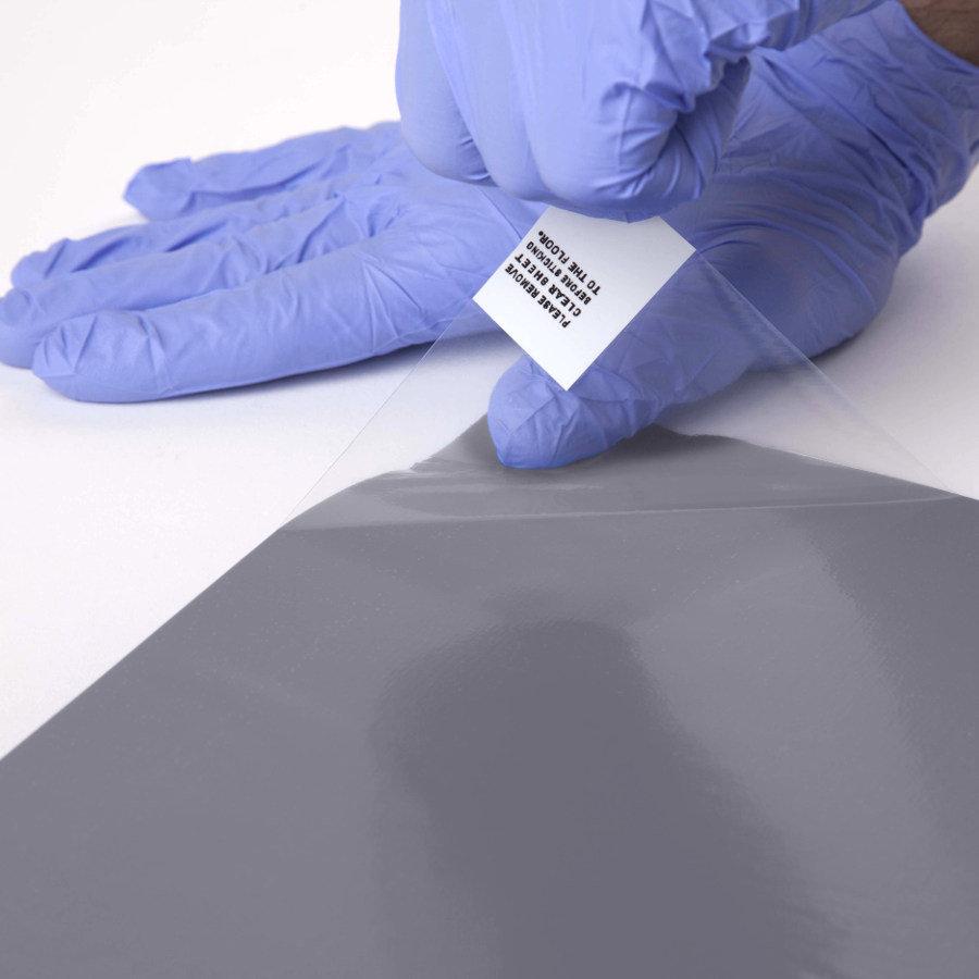 Šedá dezinfekční lepící antibakteriální dekontaminační rohož FLOMA Antibacterial Sticky Mat - 30 listů