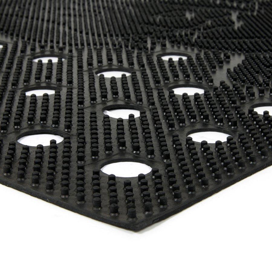 Gumová čistící děrovaná venkovní vstupní rohož FLOMA Dog - délka 45 cm, šířka 75 cm a výška 0,7 cm