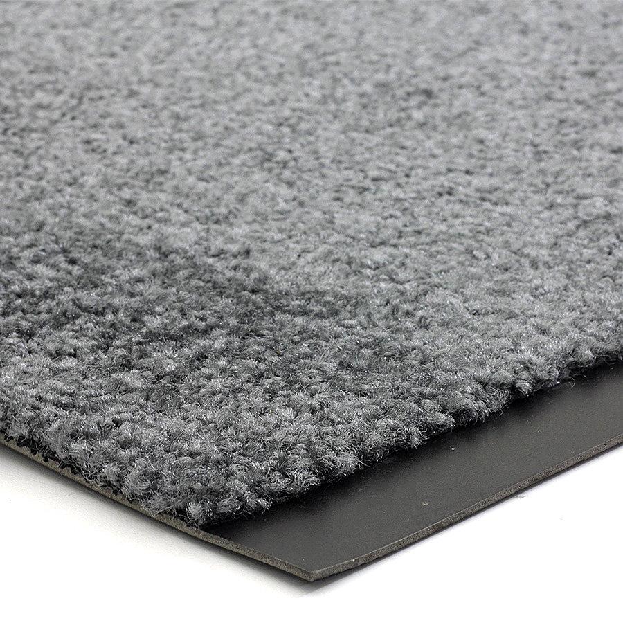 Šedá vnitřní vstupní čistící pratelná rohož (lem - 2 strany) Twister, FLOMA - délka 130 cm, šířka 100 cm a výška 0,8 cm