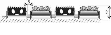 Textilní gumová hliníková vnitřní vstupní rohož Alu Standard, FLOMA - délka 100 cm, šířka 100 cm a výška 1,7 cm