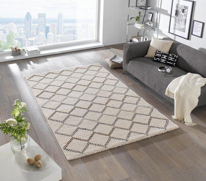 Hnědý moderní kusový bytový obdélníkový koberec Eternal - délka 170 cm a šířka 120 cm