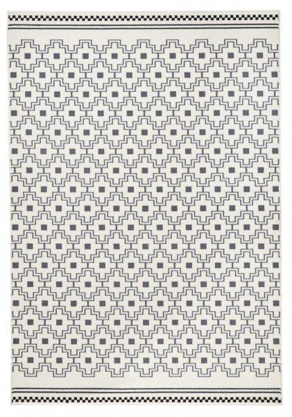Šedý kusový koberec Capri - délka 140 cm a šířka 70 cm