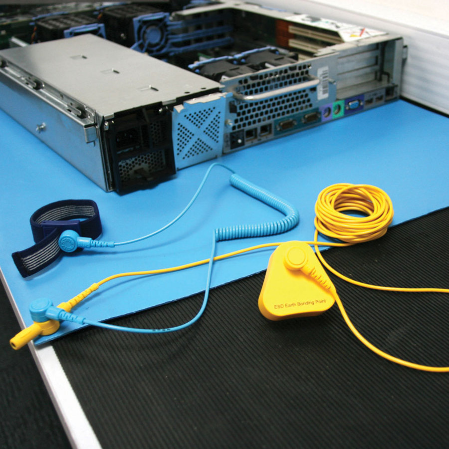 Uzemňovací kabel pro ESD rohože - délka 450 cm