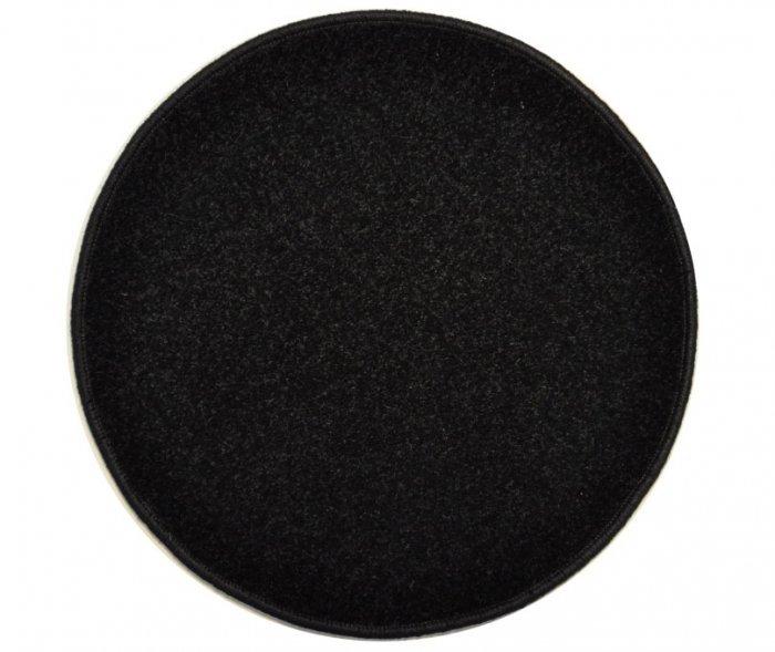 Černý kusový kulatý koberec Eton