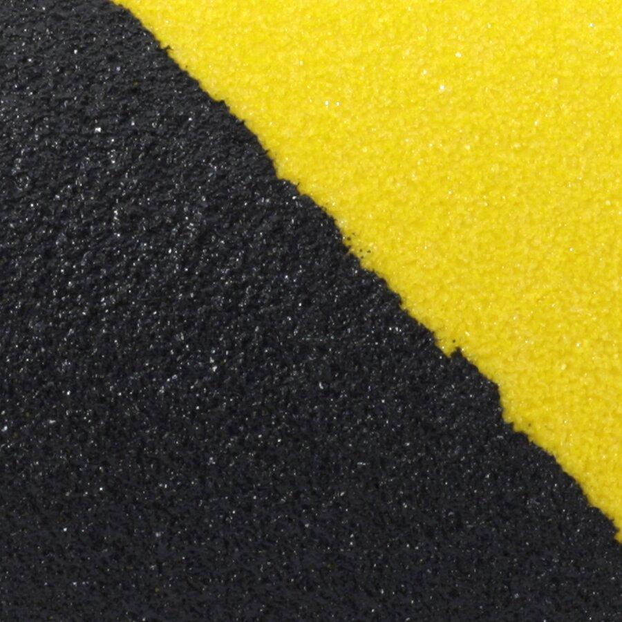 Černo-žlutá korundová protiskluzová páska FLOMA Standard Hazard - délka 3 m, šířka 5 cm a tloušťka 0,7 mm