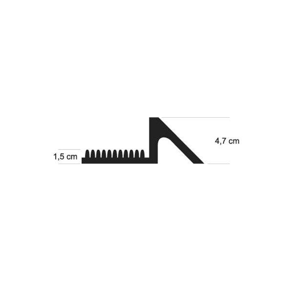 Černá gumová vstupní dezinfekční hygienická rohož FLOMA - délka 98 cm, šířka 81 cm a výška 4,7 cm
