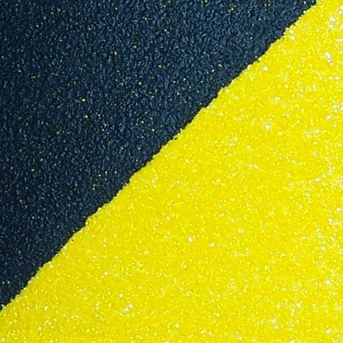 Černo-žlutá korundová protiskluzová samolepící podlahová páska - délka 18 m a šířka 5 cm
