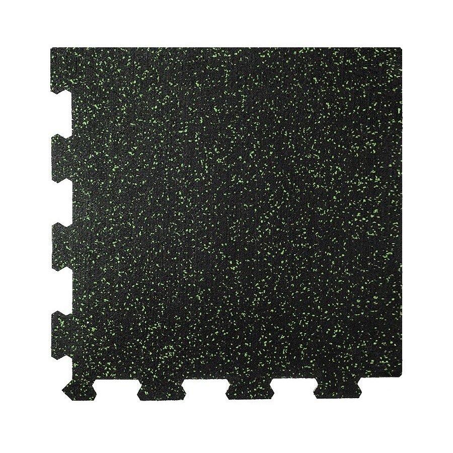 Různobarevná pryžová (10% EPDM PREMIUM) modulární fitness deska (roh) SF1050 - délka 47,8 cm, šířka 47,8 cm a výška 0,8 cm