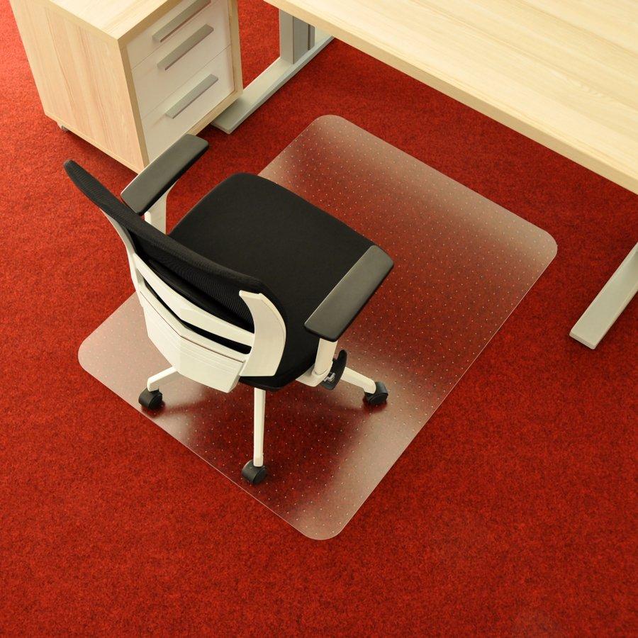 Průhledná ochranná podložka pod židli na koberec - délka 120 cm, šířka 90 cm a výška 0,2 cm