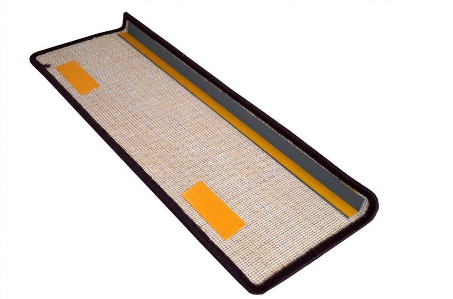 Fialový kobercový nášlap na schody Eton - délka 20 cm a šířka 65 cm