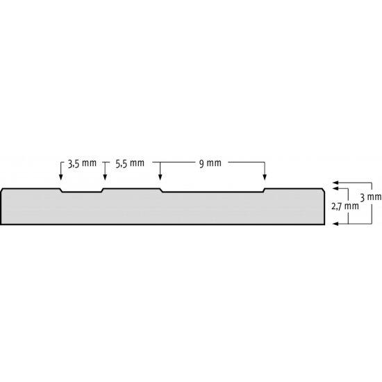 Černá průmyslová olejivzdorná rohož (metráž) Check 'n' Roll - délka 1 cm, šířka 140 cm a výška 0,3 cm