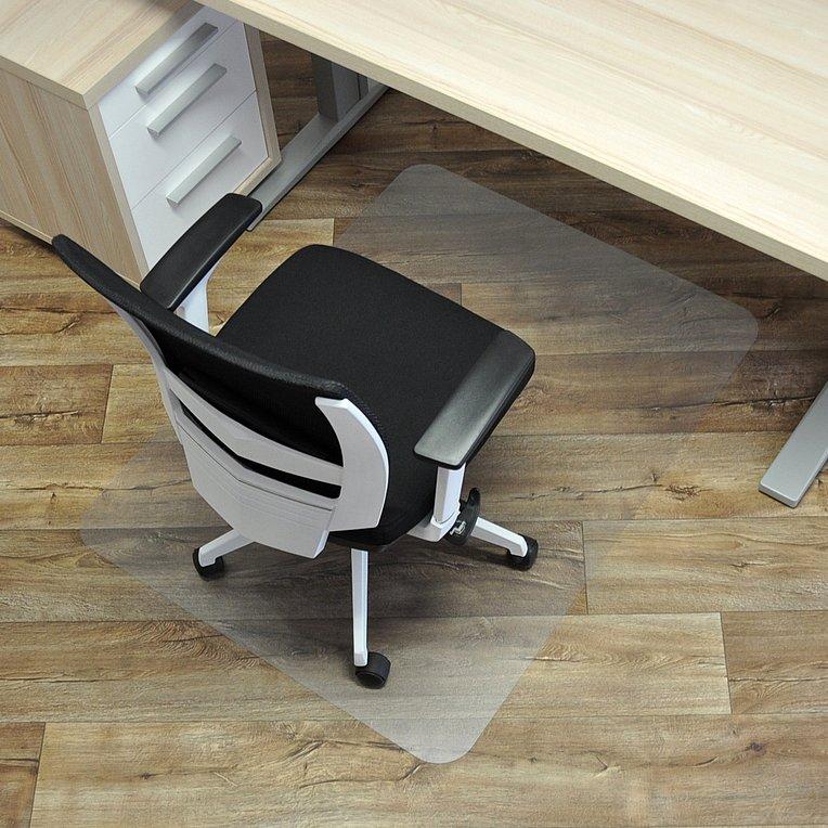 Čirá podložka pod židli na hladké povrchy - délka 120 cm, šířka 90 cm a výška 0,15 cm