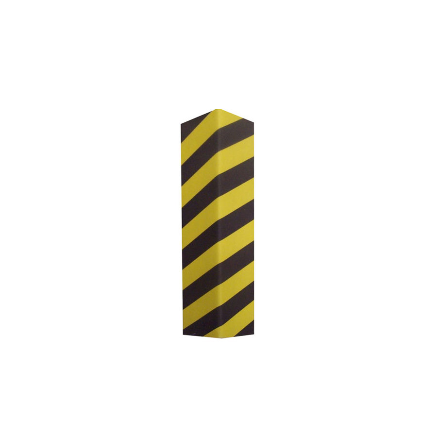 Černo-žlutý pěnový roh na ochranu stěn - délka 50 cm, šířka 12,5 cm a tloušťka 2,5 cm