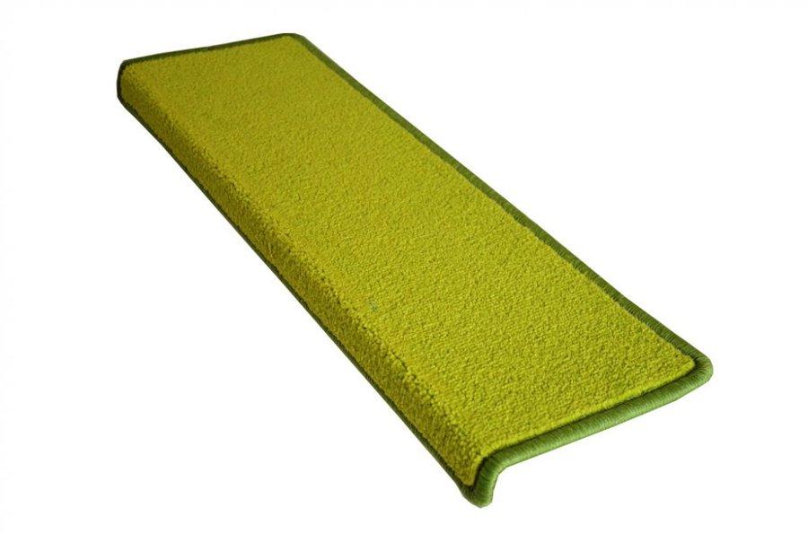 Zelený kobercový nášlap na schody Eton - délka 24 cm a šířka 65 cm