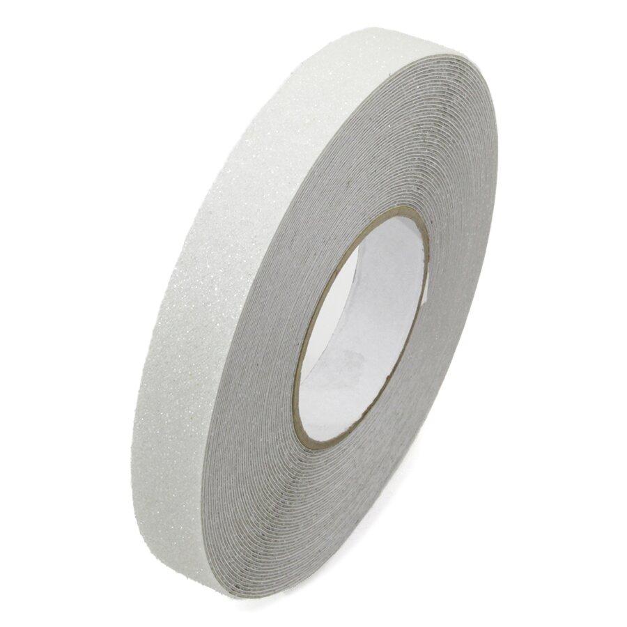 Průhledná korundová protiskluzová páska FLOMA Super - délka 18,3 m, šířka 2,5 cm a tloušťka 1 mm