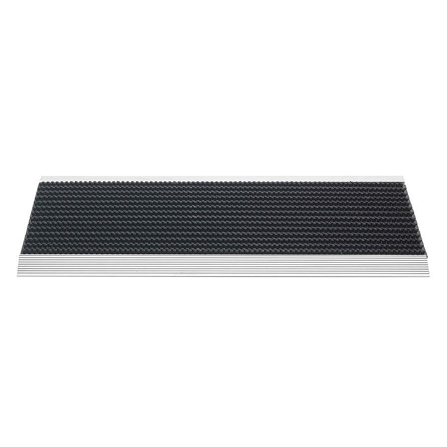 Černá venkovní čistící kartáčová rohož Outline, FLOMA - délka 35 cm, šířka 80 cm a výška 2,2 cm