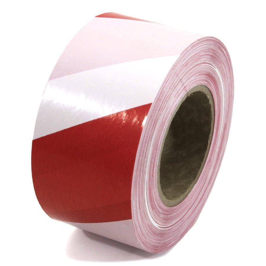 Bílo-červená vytyčovací páska - délka 250 m a šířka 7,5 cm