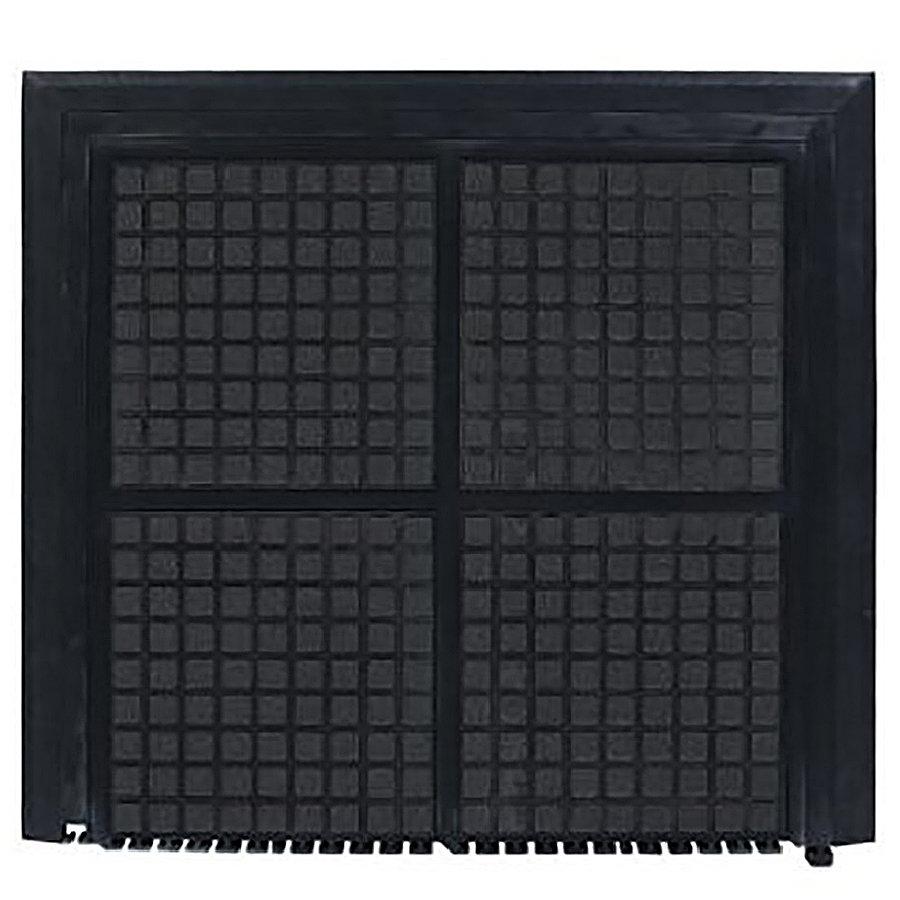 Černá podlahová protiúnavová rohož - šířka 111 cm a výška 1,9 cm