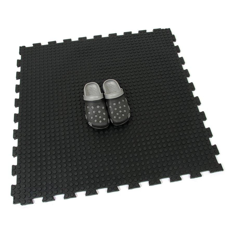 Gumová podlahová zátěžová modulová rohož FLOMA Heavy Bubble - délka 100 cm, šířka 100 cm a výška 1,6 cm