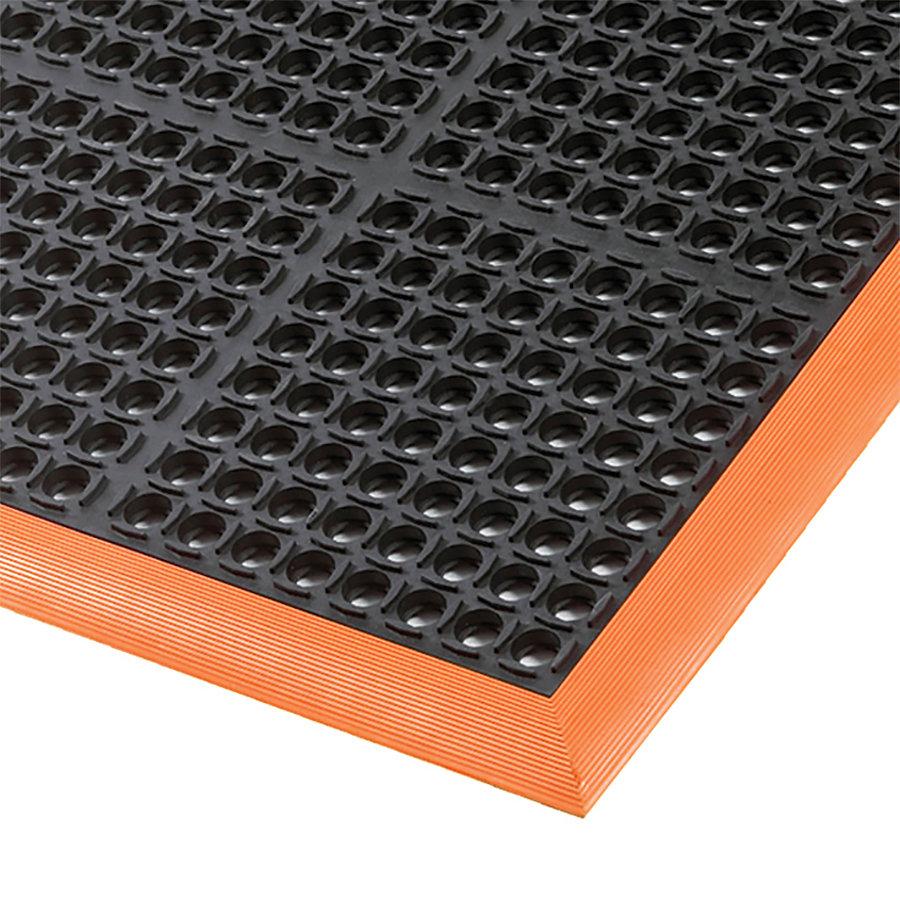 Černo-oranžová olejivzdorná průmyslová extra odolná rohož (100% nitrilová pryž) Safety Stance - výška 2,2 cm
