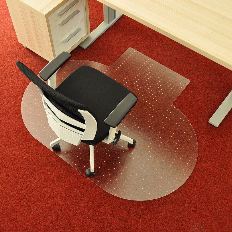 Čirá podložka pod židli na koberec - délka 120 cm, šířka 100 cm a výška 0,3 cm