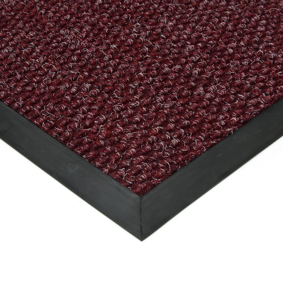 Červená textilní vstupní vnitřní čistící zátěžová rohož Fiona, FLOMA - délka 100 cm, šířka 100 cm a výška 1,1 cm