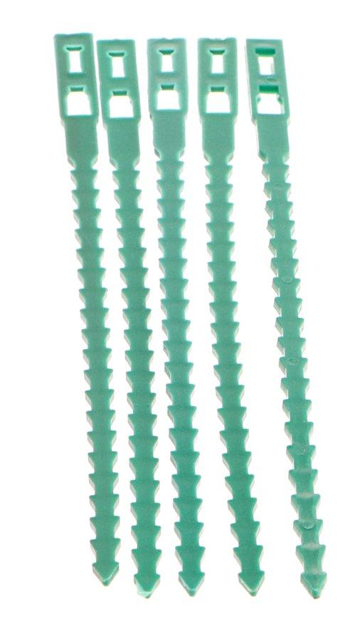 Zelená stahovací páska - délka 17 cm - 50 ks