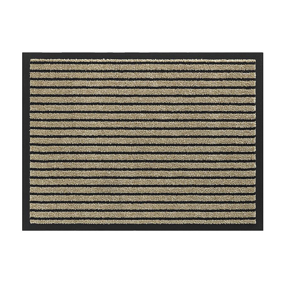 Béžová vnitřní vstupní čistící pratelná rohož Timeless, FLOMA - délka 60 cm, šířka 80 cm a výška 0,8 cm