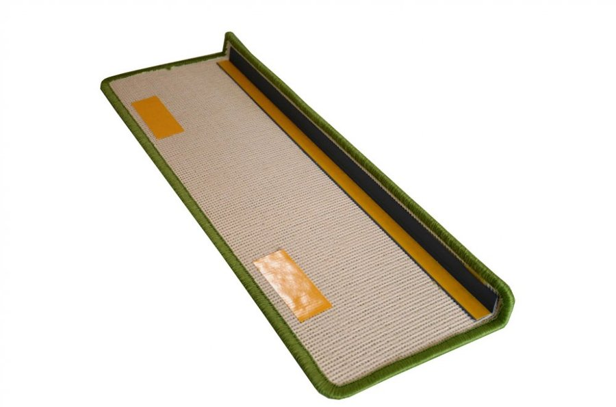 Zelený kobercový nášlap na schody Eton - délka 20 cm a šířka 65 cm