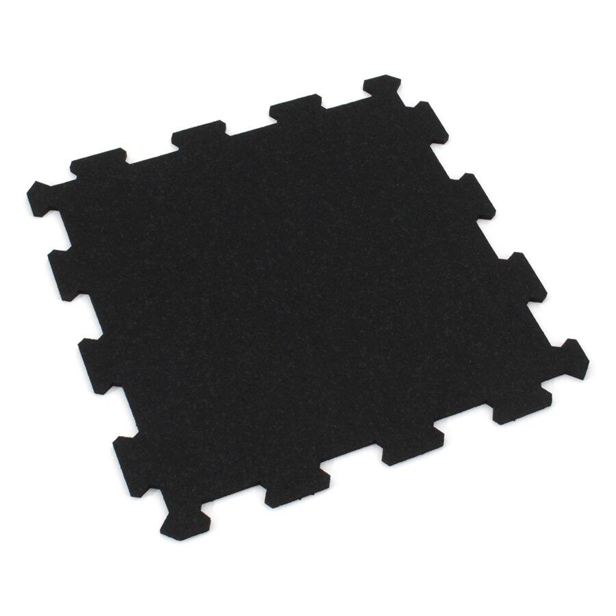 Gumová tlumící puzzle ochranná podložka pod bazén, vířivku FLOMA PoolPad - délka 95,6 cm, šířka 95,6 cm a výška 0,8 cm